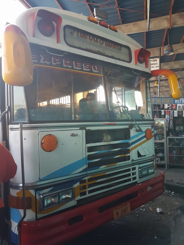 """The San Jorge Express Bus <img src=""""images/"""" width=""""800"""" height=""""600"""" alt=""""ometepe - 18493914 10154422113060636 352423890 o 768x1024 - Nicaragua: The Corn Islands To Ometepe (Without Flying)"""">"""