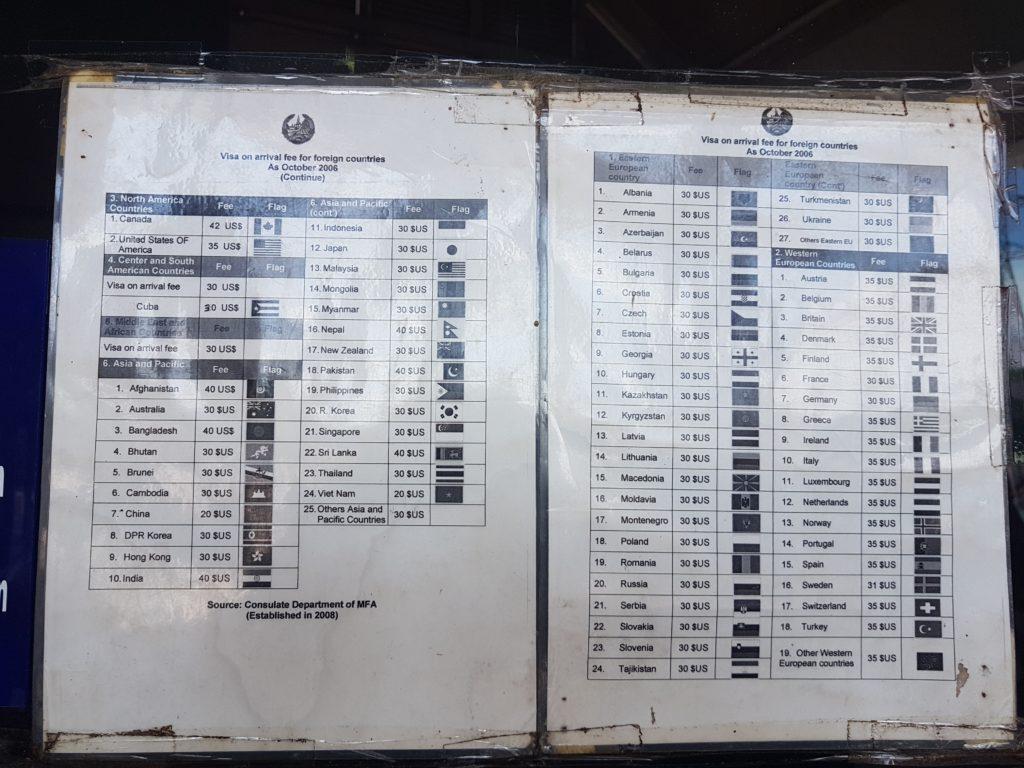 "Thai - Laos Visa Fees 2018 <img src=""images/"" width=""800"" height=""600"" alt=""chiang mai to vientiane border crossing - 20180723 100430 1024x768 - How To: Chiang Mai to Vientiane Thai-Laos Border Crossing"">"